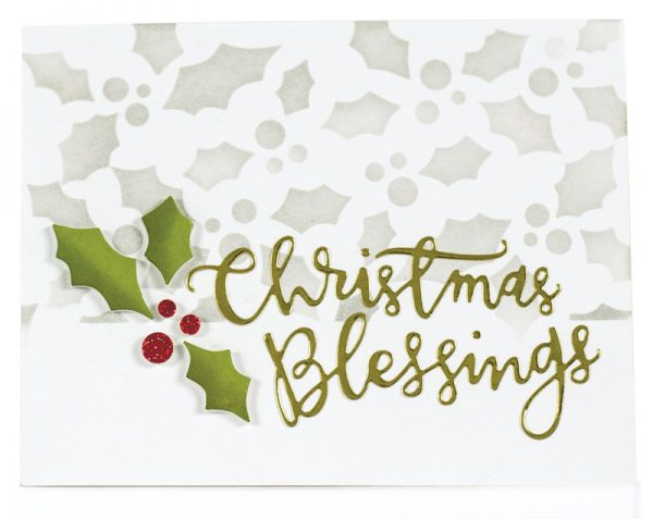 Christmas Blessings by Laurie Willison for Scrapbook & Cards Today