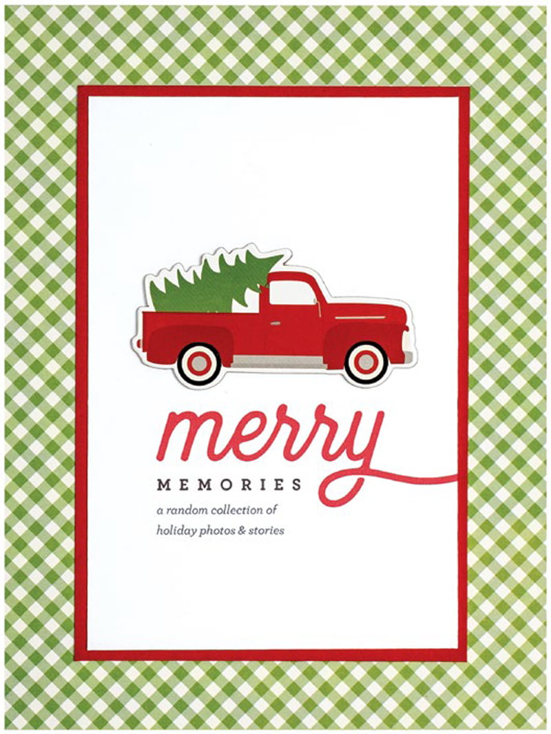 Merry Memories Title Page by Cathy Zielske for Scrapbook & Cards Today