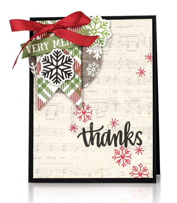 Festive Thanks card by Latisha Yoast for Scrapbook & Cards Today