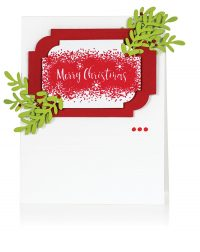 Merry Christmas card by Latisha Yoast for Scrapbook & Cards Today
