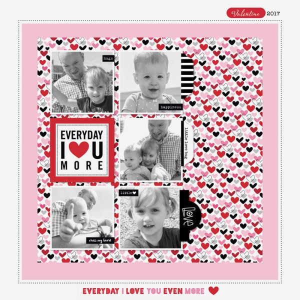 I Heart U More by Marcy Johnson for Scrapbook & Cards Today