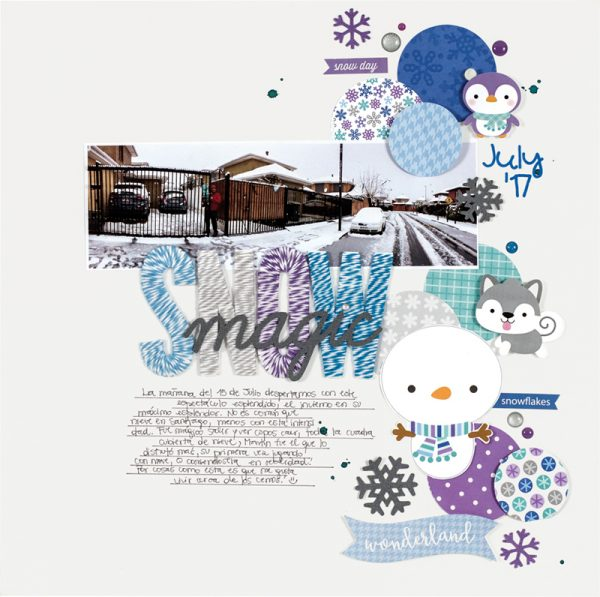 Snow Magic by Caroli Schulz for Scrapbook & Cards Today