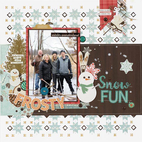 Snow Fun by Marcia Dehn-Nix for Scrapbook & Cards Today