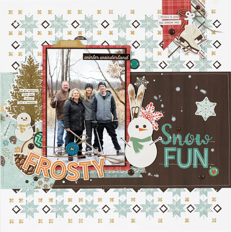 Snow Fun by Marcia Dehn-Nix for Scrapbook & Cards Today