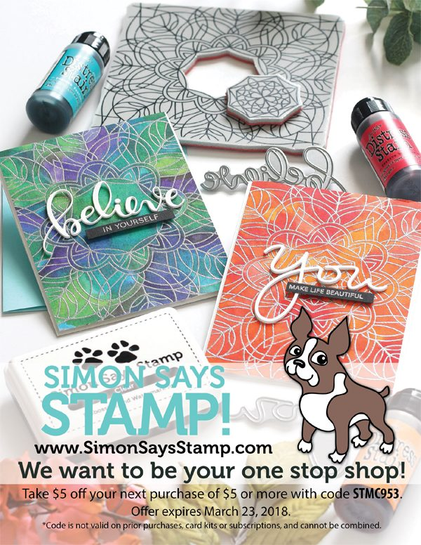 Simon Says Stamp Ad for Scrapbook & Cards Today Winter 2017 issue