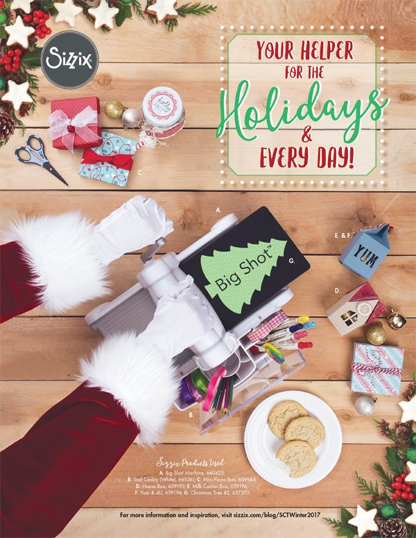 Sizzix Ad for Scrapbook & Cards Today Winter 2017 issue