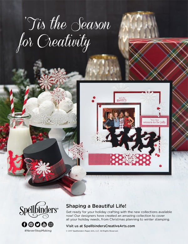 Spellbinders Ad for Scrapbook & Cards Today Winter 2017 issue