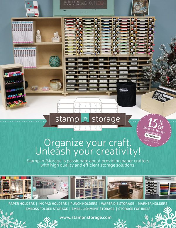 Stamp-n-Storage Ad for Scrapbook & Cards Today Winter 2017 issue