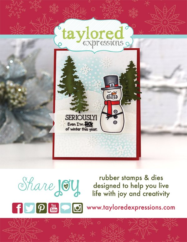 Taylored Expressions Ad for Scrapbook & Cards Today Winter 2017 issue