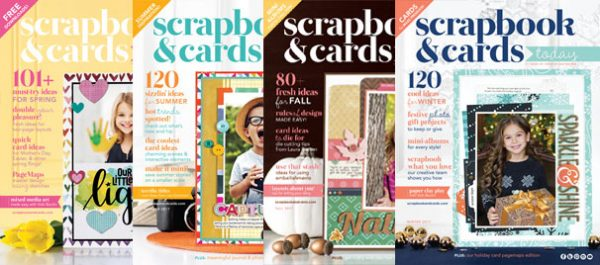 2017 Covers of Scrapbook & Cards Today magazine