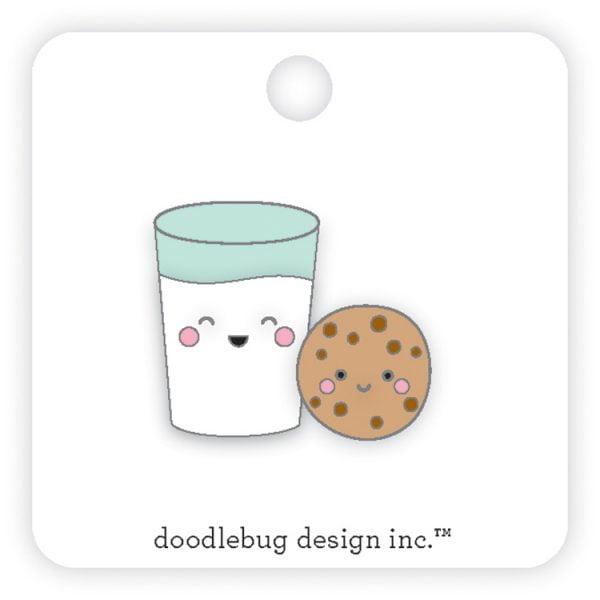 Doodlebug Milk & Cookies enamel pin