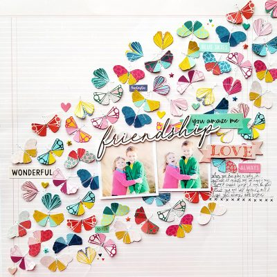 Friendship Layout by Paige Evans for Scrapbook & Cards Today