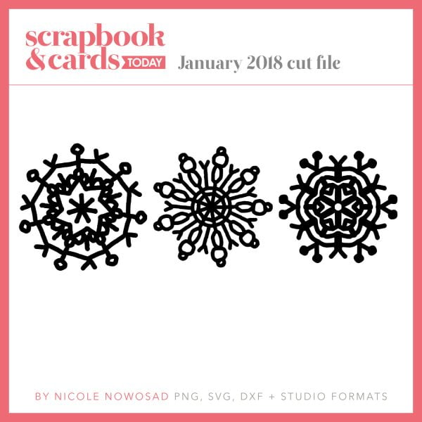 January 2018 free cutting file from Scrapbook & Cards Today