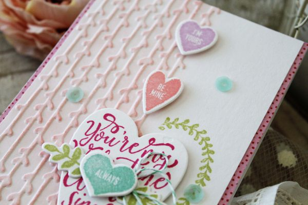 Love Themed card by Melissa Phillips for Scrapbook & Cards Today magazine