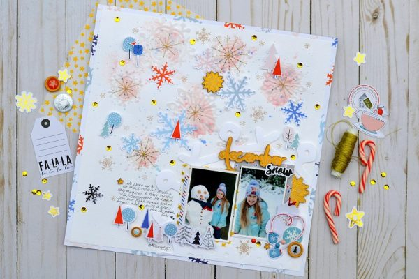 December Snow by Niki Rowland for Scrapbook & Cards Today