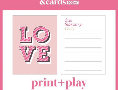 "Print + Play ""LOVE"" with Cathy Zielske!"