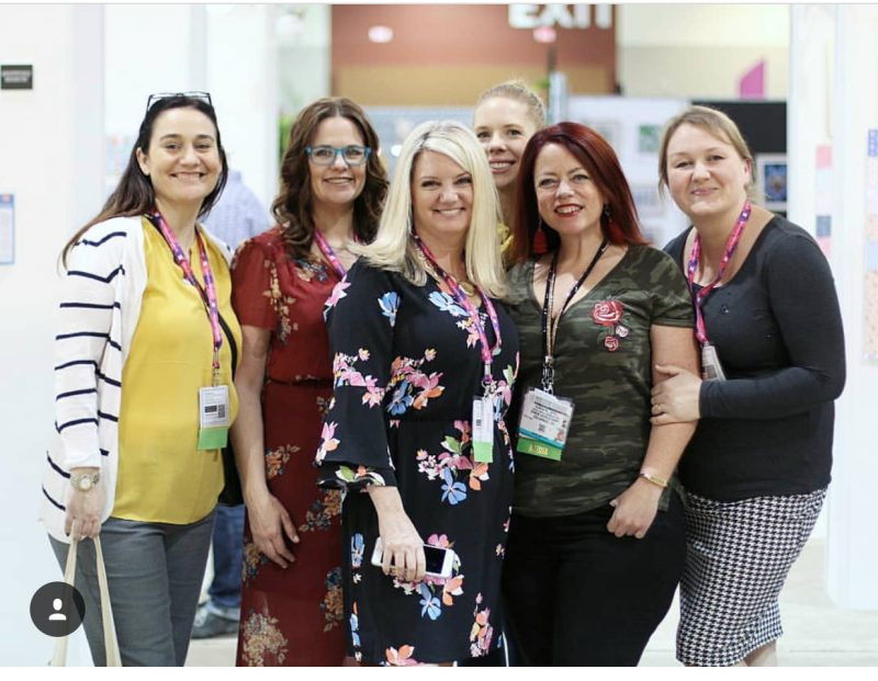 Scrapbook & Cards Today team at Creativation