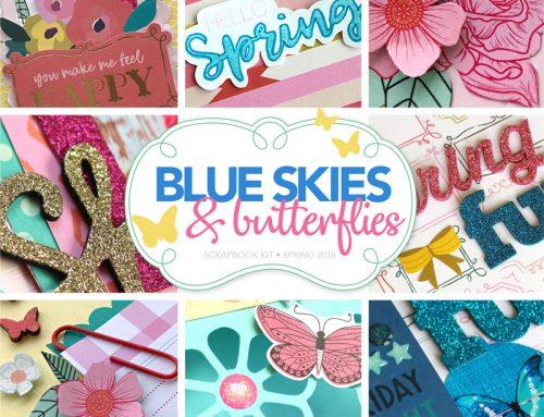 Blue Skies & Butterflies kit GIVEAWAY!