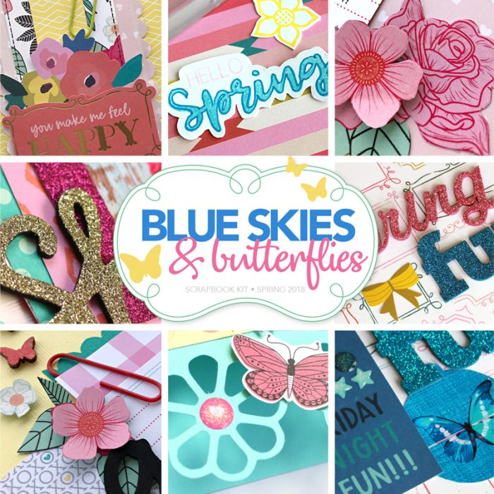 Blue Skies and Butterflies Scrapbook Kit by Scrapbook & Cards Today