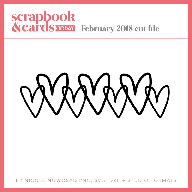 February 2018 free cut file for Scrapbook & Cards Today