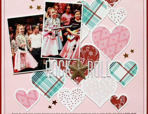 Lisa Dickinson + Valentines = fabulous layout!