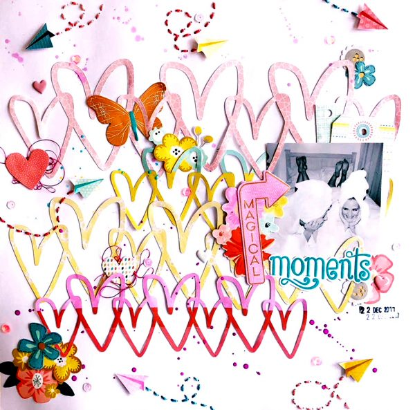 Magical Moments Layout by Morgan Langley for Scrapbook & Cards Today