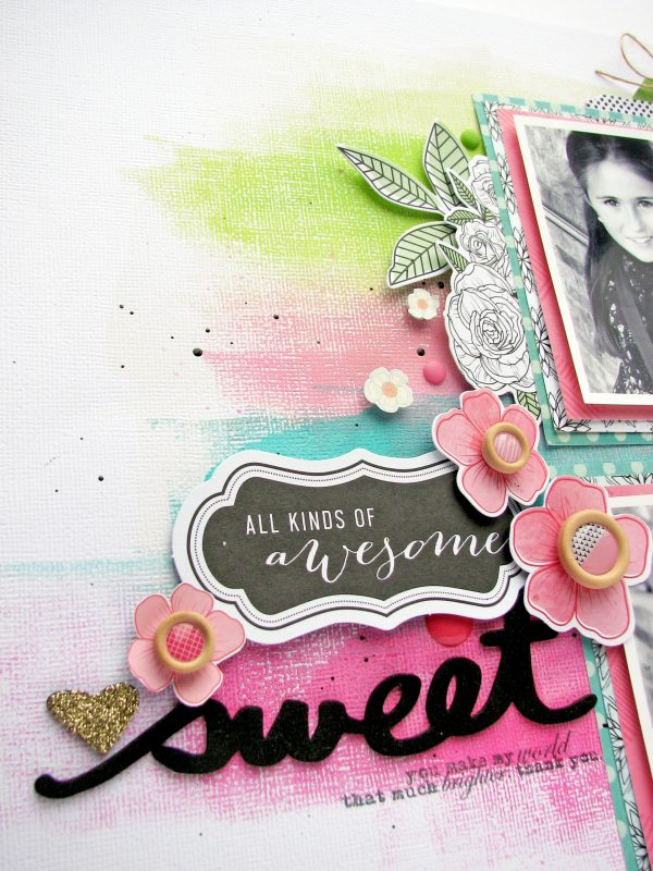 Sweet by Nicole Nowosad for Scrapbook and CardsToday
