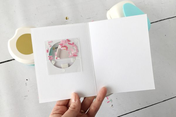Sprinkles Shaker Card by Aly Dosdall for Scrapbook & Cards Today