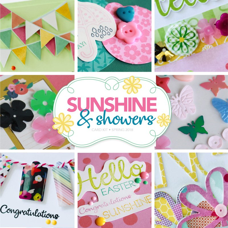 Sunshine and Showers Card Kit by Scrapbook & Cards Today