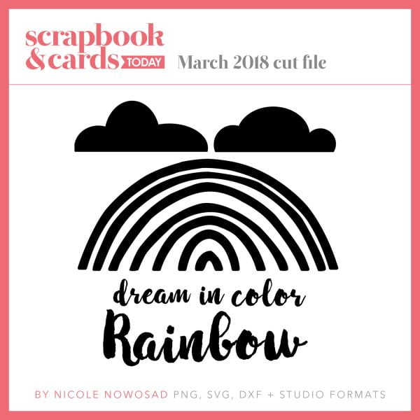 March 2018 free cut file for Scrapbook & Cards Today
