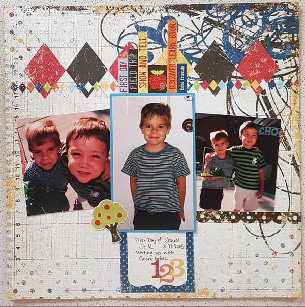 March Layout by Lori Scholz