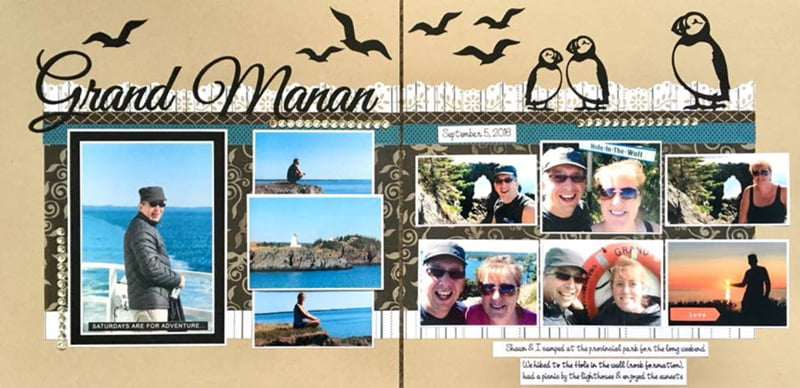March Layout by Nicole Genge