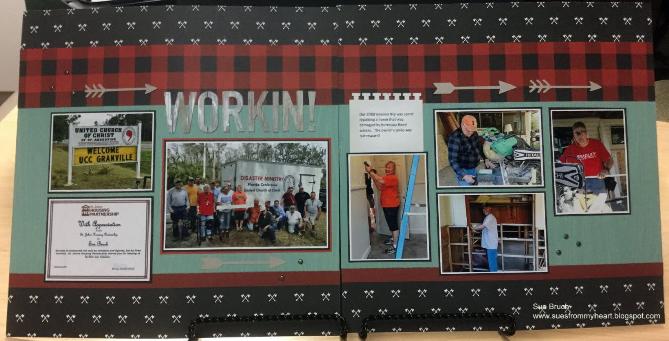 March Layout by Sue Kettwich Bruch
