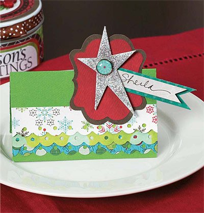 Holiday Place Card by Vicki Boutin
