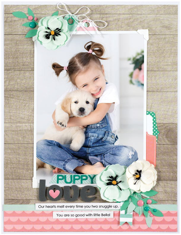 Puppy Love by Jennifer S. Gallacher - Scrapbook & Cards Today Spring 2018
