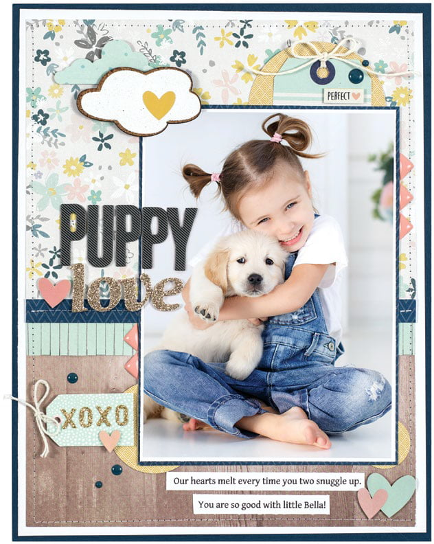 Puppy Love by Marielle LeBlanc - Scrapbook & Cards Today Spring 2018