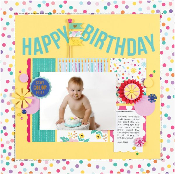 Happy Birthday by Kelly Goree - Scrapbook & Cards Today Spring 2018