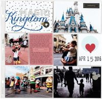 Magic Kingdom by Lisa Williams Varshine - Scrapbook & Cards Today Spring 2018