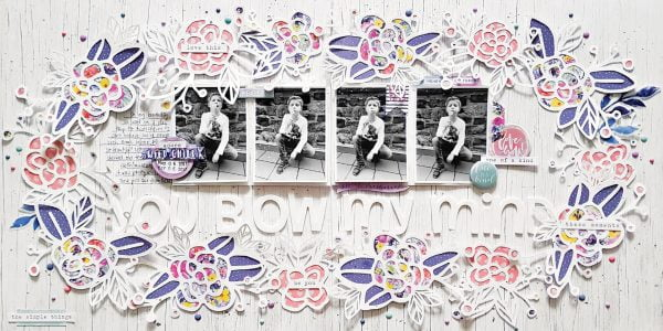 You Blow My Mind by Zsoka Marko - Scrapbook & Cards Today Spring 2018