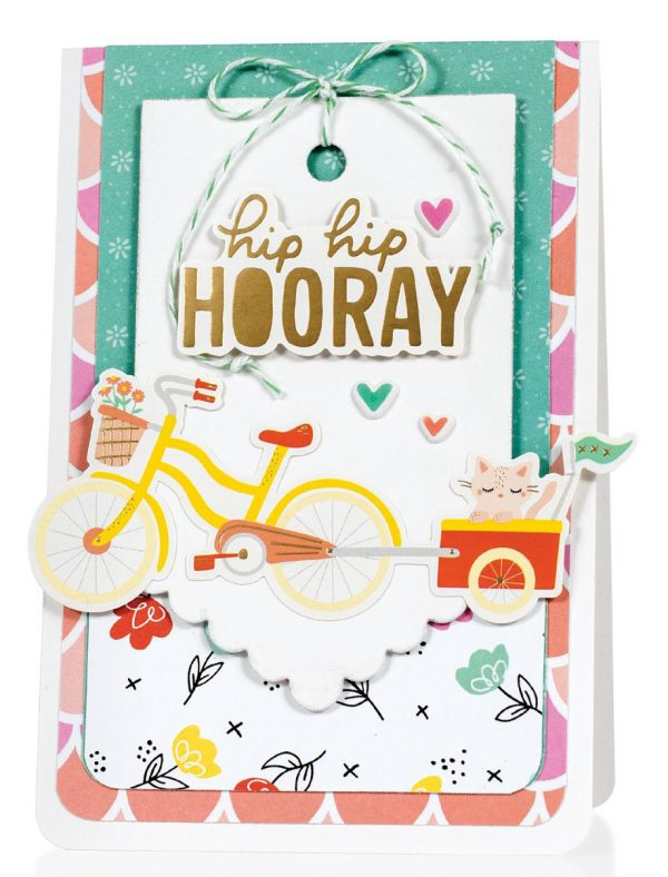 Hip Hip Hooray card by Melissa Phillips - Scrapbook & Cards Today Spring 2018