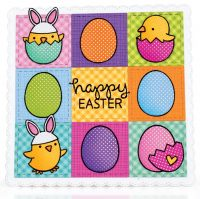 Happy Easter card by Mendi Yoshikawa - Scrapbook & Cards Today Spring 2018