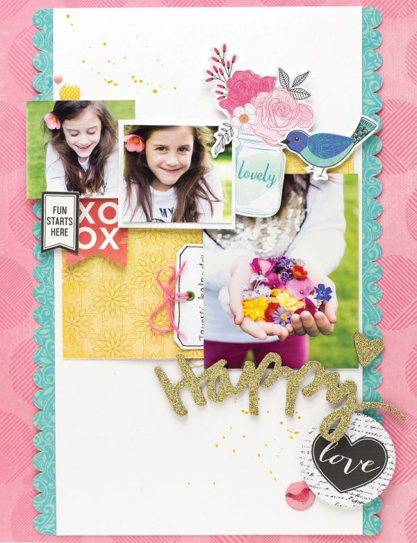 Happy Love by Bea Valint - Scrapbook & Cards Today Spring 2018
