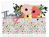 Thanks card by Amy Rysavy - Scrapbook & Cards Today Spring 2018