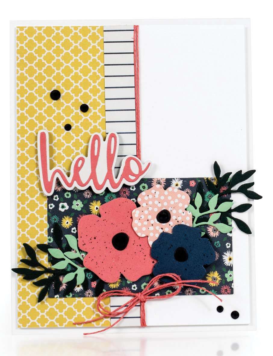 Hello card by Amy Rysavy - Scrapbook & Cards Today Spring 2018