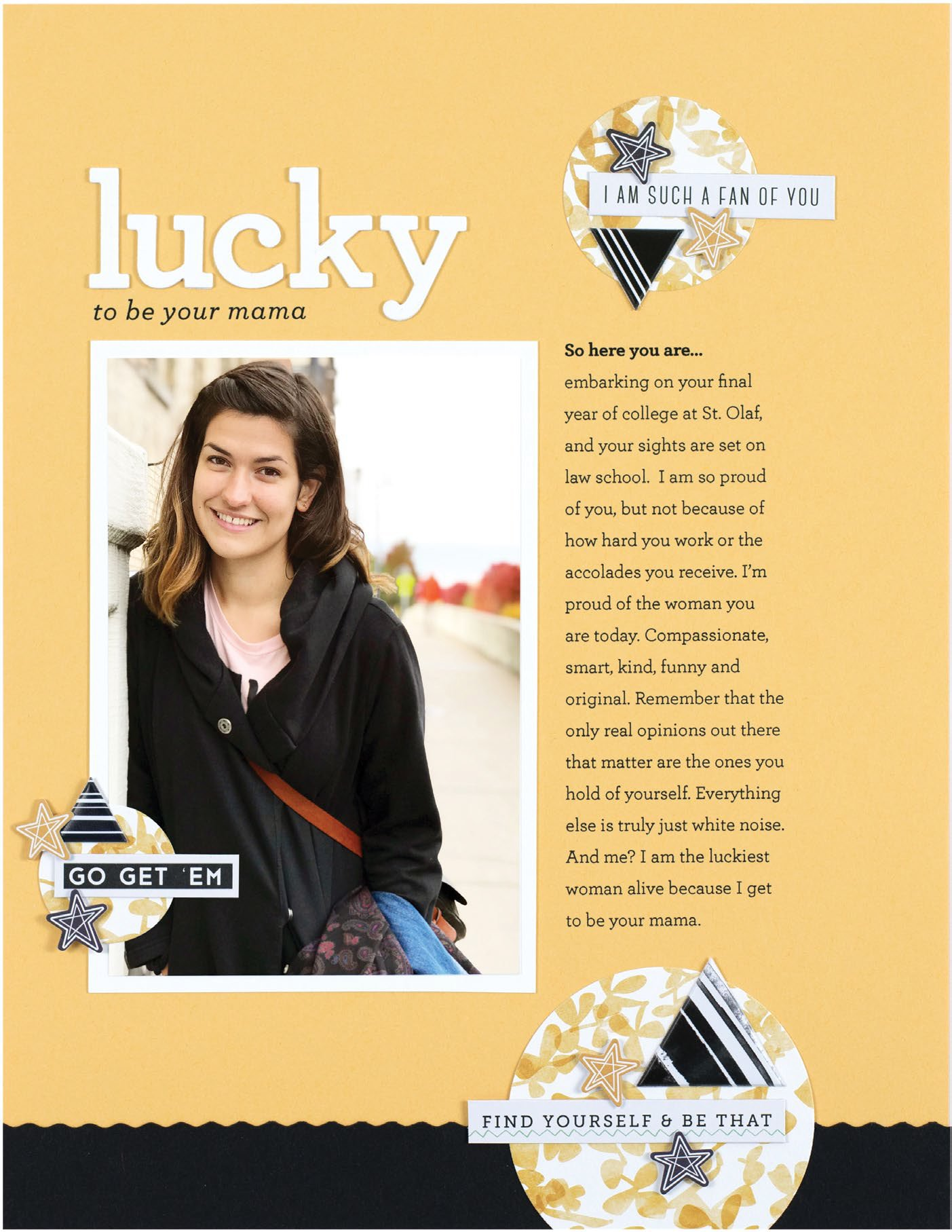 Lucky by Cathy Zielske - Scrapbook & Cards Today Spring 2018
