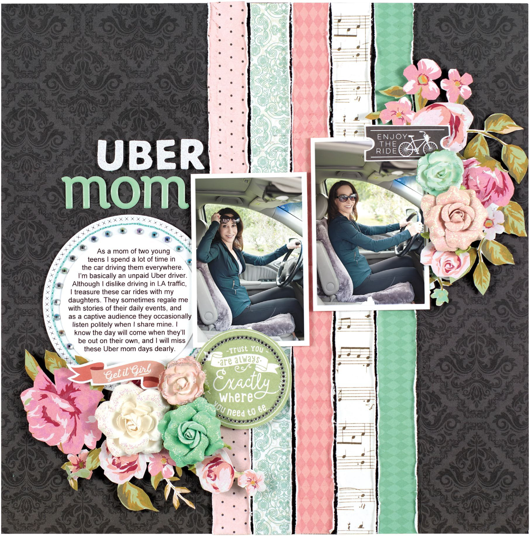 Uber Mom by Stacy Cohen - Scrapbook & Cards Today Spring 2018