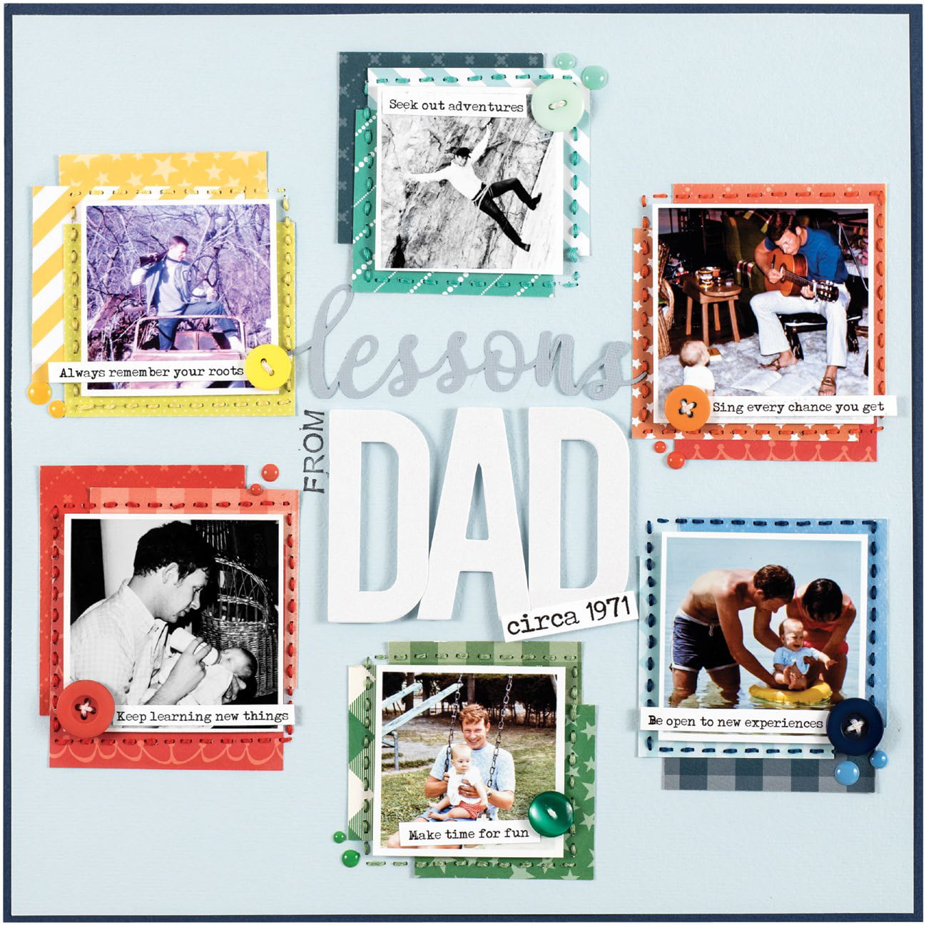 Lessons From Dad by Lisa Dickinson - Scrapbook & Cards Today Spring 2018