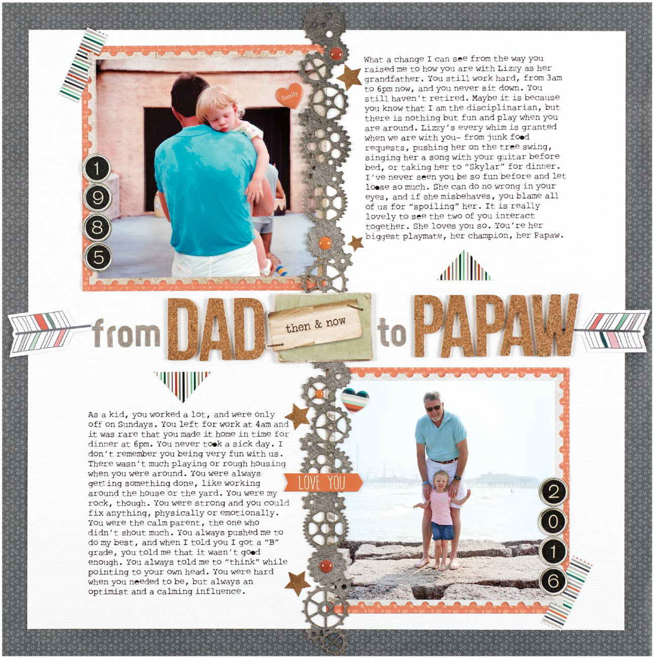 From Dad to Papaw by Meghann Andrew - Scrapbook & Cards Today Spring 2018