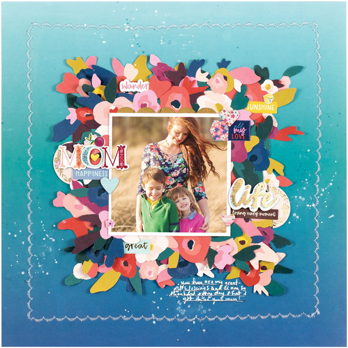 Mom Happiness by Paige Evans - Scrapbook & Cards Today Spring 2018
