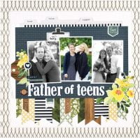 Father of Teens by Anya Lunchenko - Scrapbook & Cards Today Spring 2018